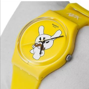 Swatch Accessories - Kid Robot for Swatch Frank Kozik Watch + Dunny set